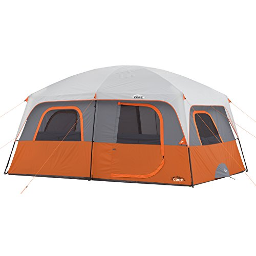 Best Family Tents for Bad Weather - CORE 10-Person 14 x 10 ft. Straight Wall Cabin Tent