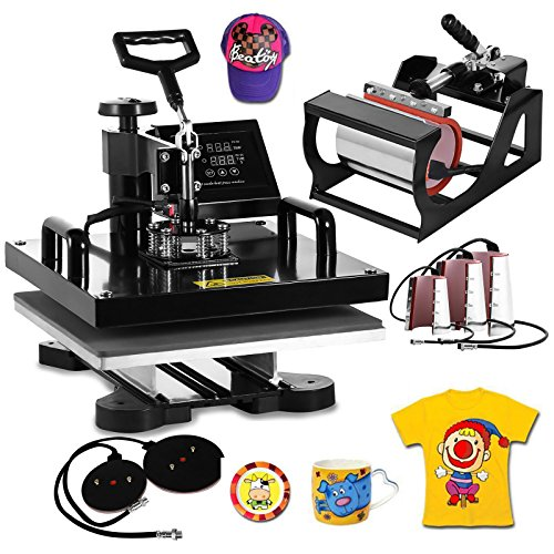 Best Heat Press Machine for Small Business -  VEVOR  Digital Multifunctional Sublimation Auto Countdown Heat Press Machine
