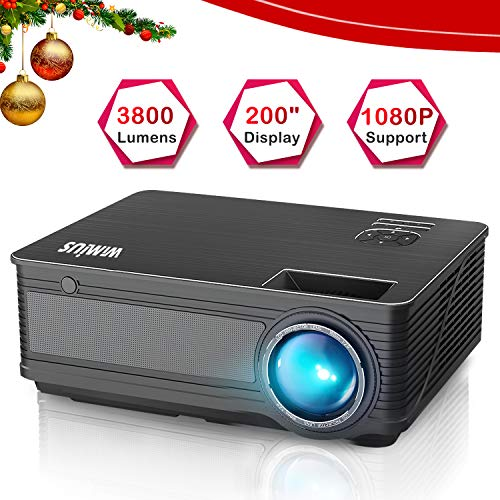 Best Projector Under 200 - WiMiUS P18 3800 Lumens LED Projector