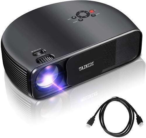 TAINIDI 3600Lux HD Home Cinema Theater Projector