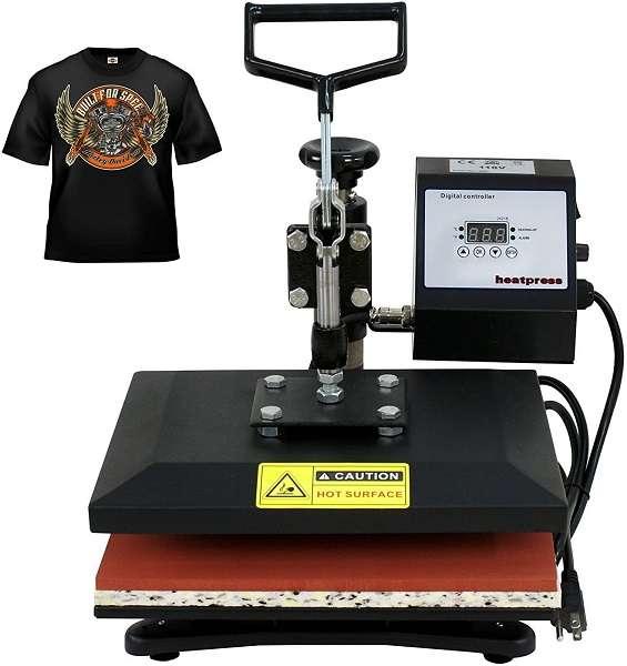 ZENY Swing Away 10×12 Digital Heat Press Machine
