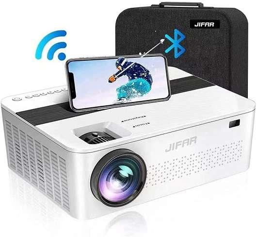 Jifar 1080P Projector for Outdoor Movies
