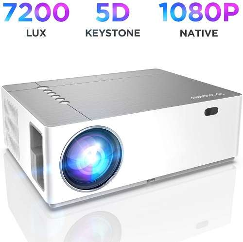 Best Projectors Under 300 -  BOMAKER Native 1080p Full HD Projector for Outdoor Movie