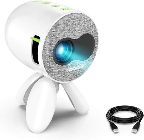 GooDee YG220 Portable Mini Projector - Best led video projector