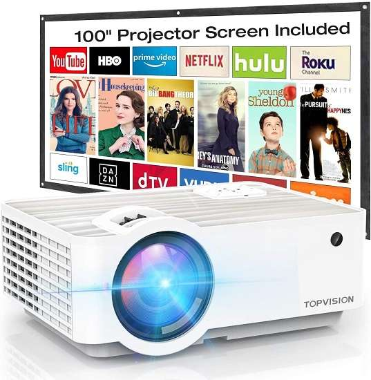 Topvision T6 Portable Mini Projector - Best video projector