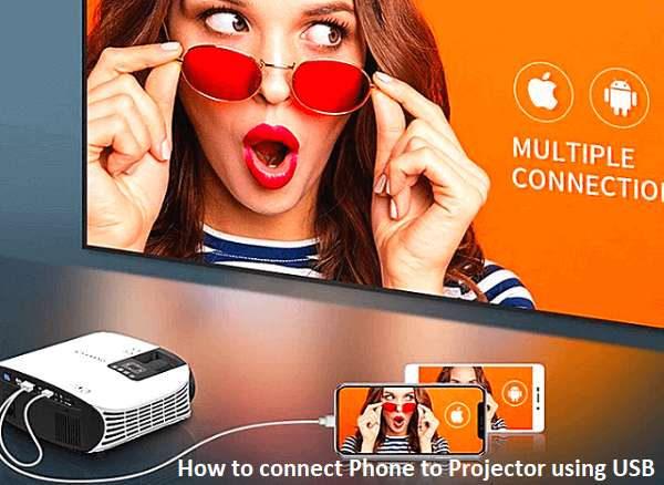 How to connect Phone to Projector using USB