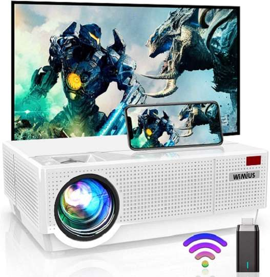WiMiUS P28 Projector for Home Theater and Presentation
