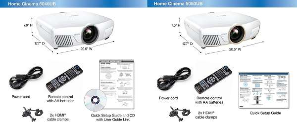 What Are The Differences between Epson 5040 vs 5050 4K PRO-UHD Projector