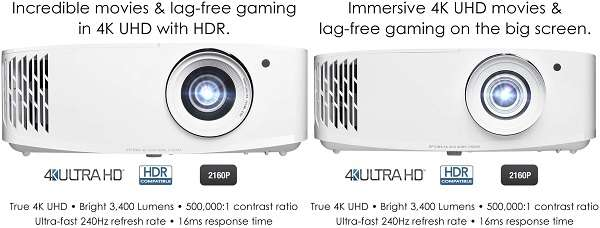 What Are The Differences And Similarities Between Optoma uhd30 vs uhd50x